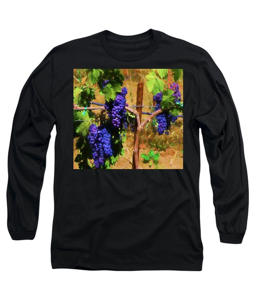 Wine Country  Long Sleeve T-Shirt by Kandy Hurley