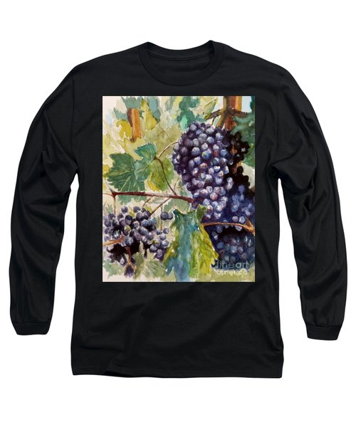 Wine Grapes Long Sleeve T-Shirt by William Reed