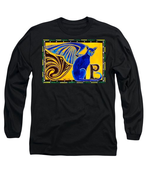 Winged Feline - Cat Art With Letter P By Dora Hathazi Mendes Long Sleeve T-Shirt