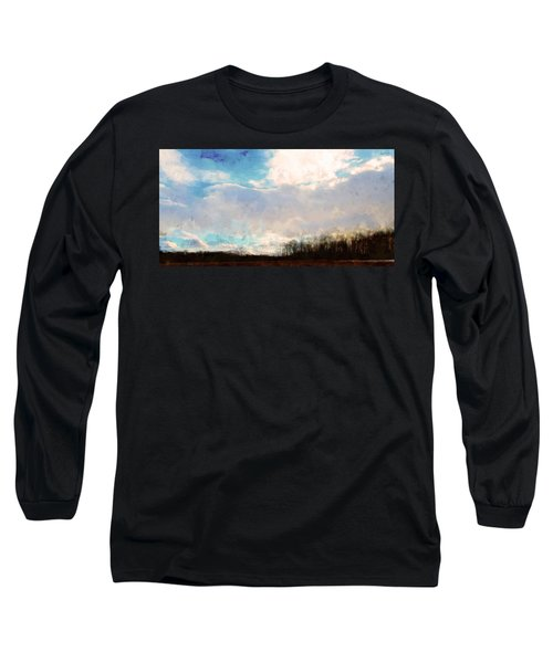 Winter Afternoon Sky Long Sleeve T-Shirt