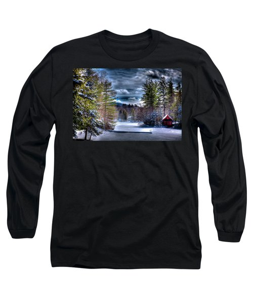 Long Sleeve T-Shirt featuring the photograph Winter At The Boathouse by David Patterson