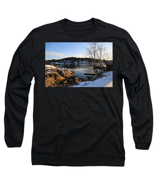 Winter Day By The Oslo Fjords, Norway.  Long Sleeve T-Shirt