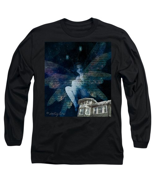 Long Sleeve T-Shirt featuring the digital art Winter Fairy by Delight Worthyn