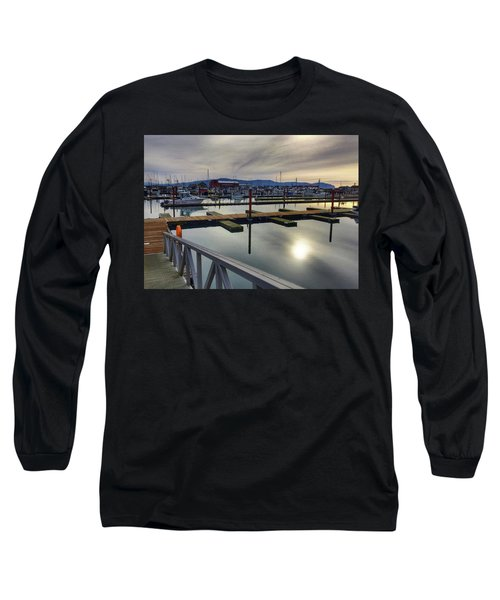 Long Sleeve T-Shirt featuring the photograph Winter Harbor by Chriss Pagani