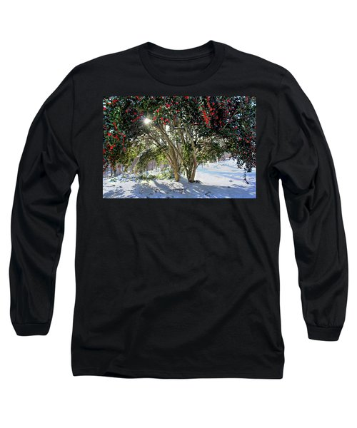 Long Sleeve T-Shirt featuring the photograph Winter Holly by Jessica Brawley