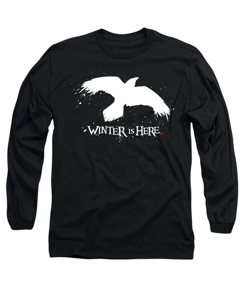 Winter Is Here - Large Raven Long Sleeve T-Shirt