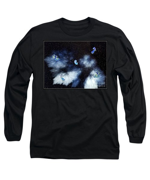 Winter Leaves And Fairies Long Sleeve T-Shirt