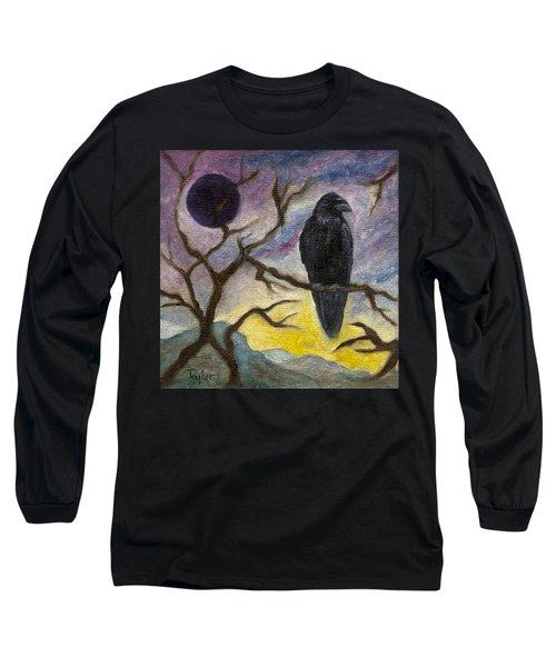 Winter Moon Raven Long Sleeve T-Shirt