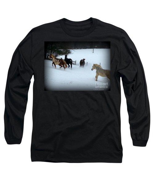 Winter Snow Long Sleeve T-Shirt