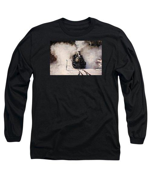 Winter Steam At Rockwood Colorado Long Sleeve T-Shirt