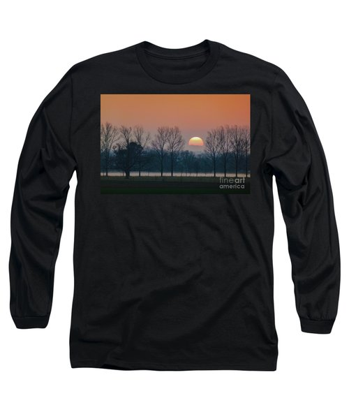 Winter Sunset 1 Long Sleeve T-Shirt by Jean Bernard Roussilhe