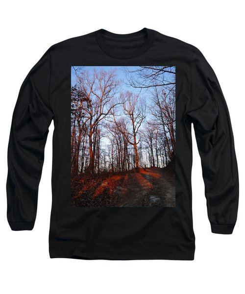 Winter Sunset In Georgia Mountains Long Sleeve T-Shirt