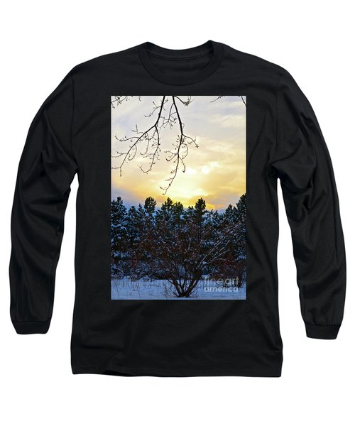 Winter Sunset On The Tree Farm #2 Long Sleeve T-Shirt