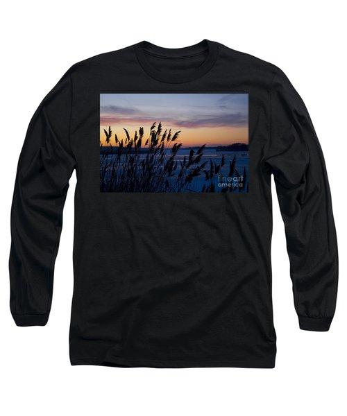 Winter Sunset  Long Sleeve T-Shirt by Paula Guttilla