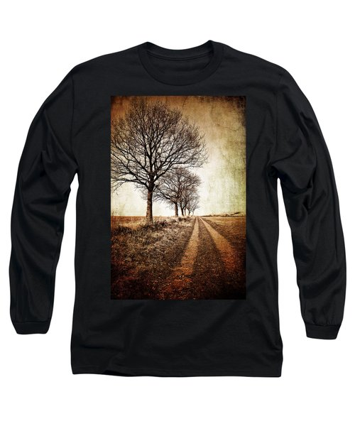 Winter Track With Trees Long Sleeve T-Shirt