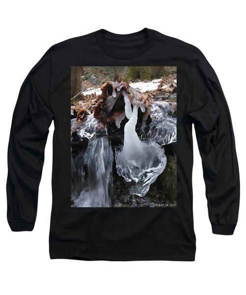 Winter Water Flow 5 Long Sleeve T-Shirt