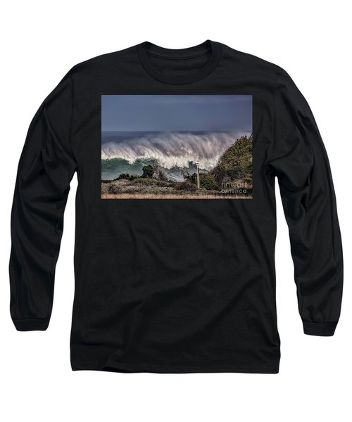 Winter Waves Long Sleeve T-Shirt by Shirley Mangini