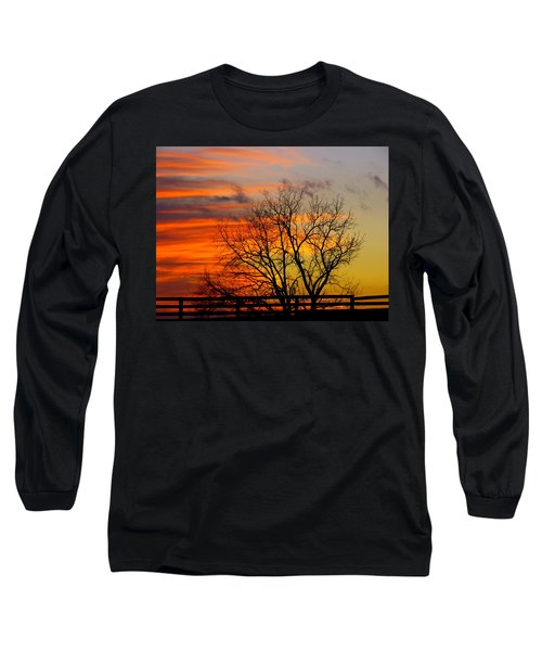 Winter's Scene Long Sleeve T-Shirt by Donald C Morgan