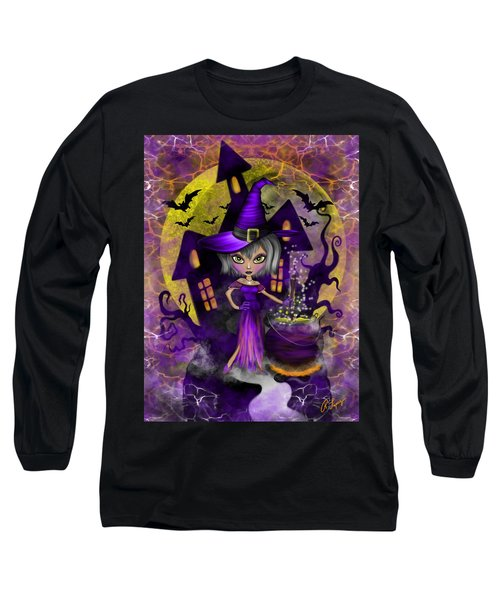 Long Sleeve T-Shirt featuring the painting Wisdom Witch Fantasy Art by Raphael Lopez
