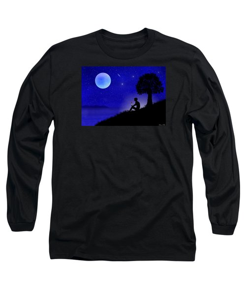 Long Sleeve T-Shirt featuring the digital art Wish You Were Here by Bernd Hau