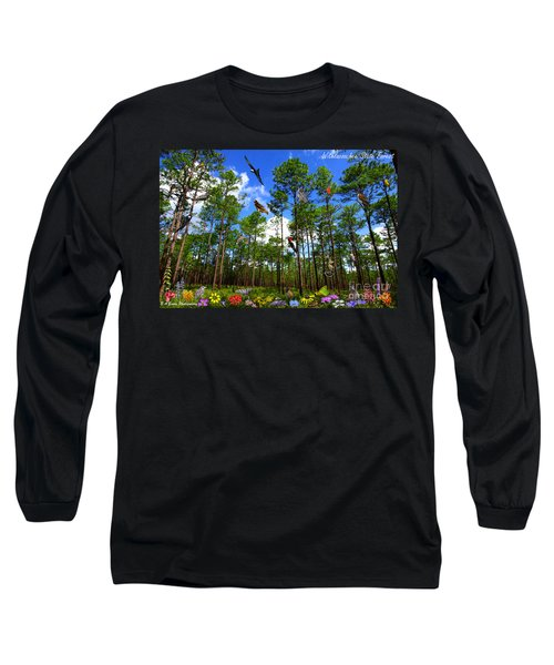 Withlacoochee State Forest Nature Collage Long Sleeve T-Shirt