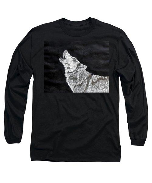 Wolf Howl Long Sleeve T-Shirt by Stan Hamilton
