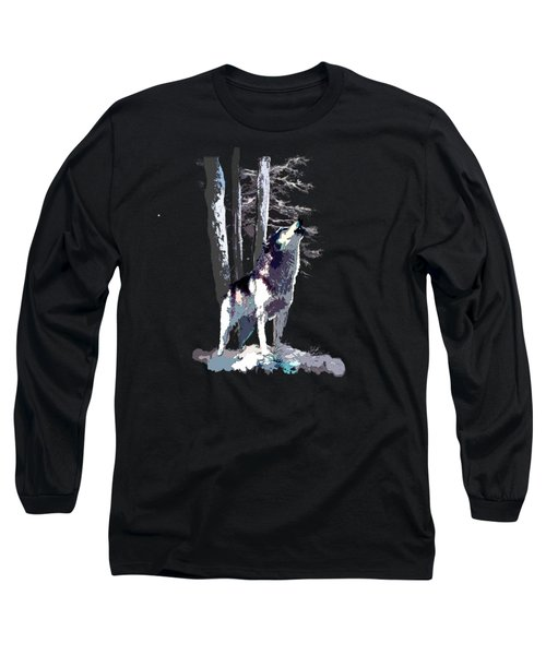 Wolf  Howling Memory Long Sleeve T-Shirt