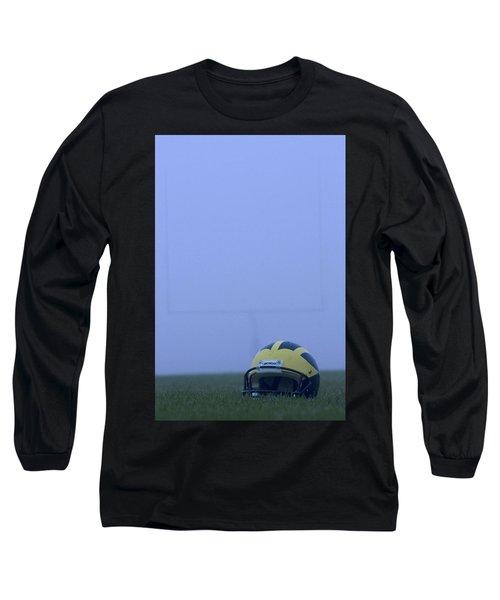 Wolverine Helmet On The Field In Heavy Fog Long Sleeve T-Shirt