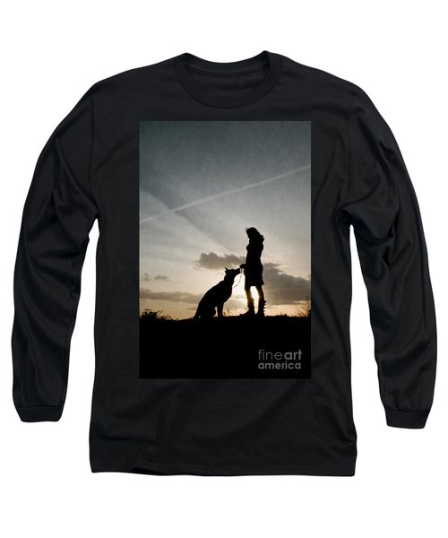 Woman And Dog  Long Sleeve T-Shirt