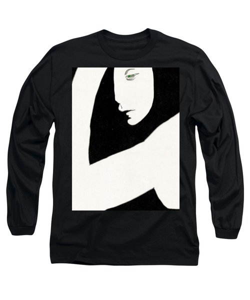 Woman In Shadows Long Sleeve T-Shirt