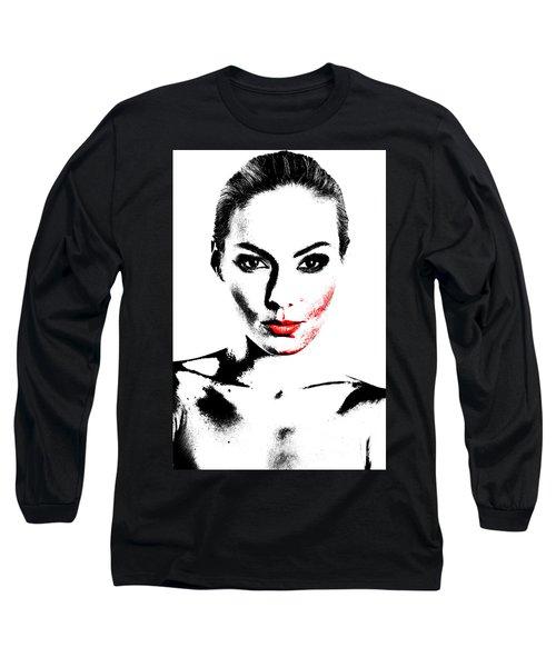 Woman Portrait In Art Look Long Sleeve T-Shirt