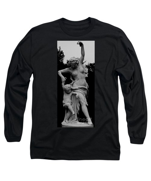 Long Sleeve T-Shirt featuring the painting Woman Statue by Eric  Schiabor