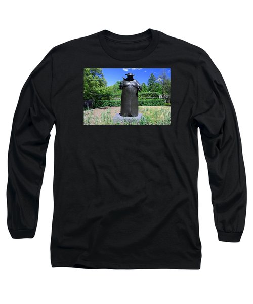 Woman With The Birds Long Sleeve T-Shirt by Michiale Schneider