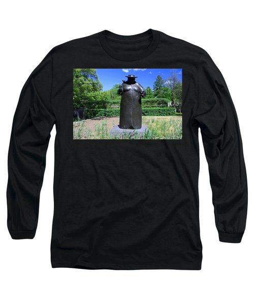 Woman With The Birds Long Sleeve T-Shirt