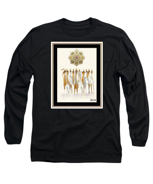 Women Chanting Mandala Long Sleeve T-Shirt