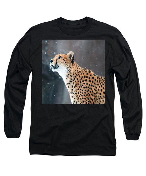 Long Sleeve T-Shirt featuring the photograph Wonder Of Snow by Lula Adams