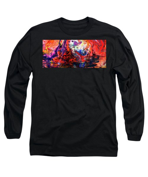 Wonderland - Colorful Abstract Art Painting Long Sleeve T-Shirt