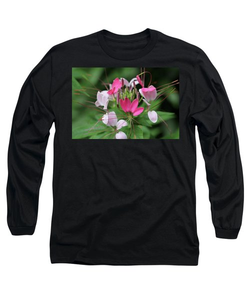 Long Sleeve T-Shirt featuring the photograph Wonders Of Cleome by Deborah  Crew-Johnson