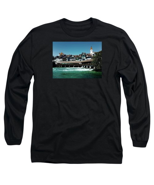 Long Sleeve T-Shirt featuring the photograph Wooden Bridge by Mimulux patricia no No