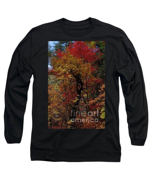 Woods In Oak Creek Canyon, Arizona Long Sleeve T-Shirt