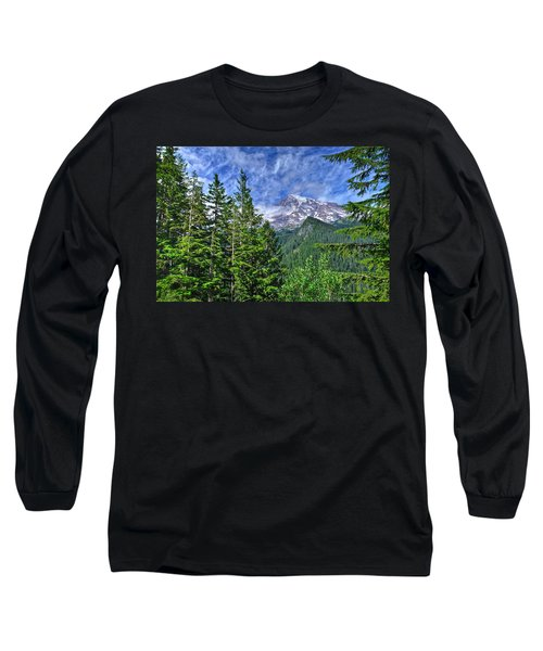 Woods Surrounding Mt. Rainier Long Sleeve T-Shirt
