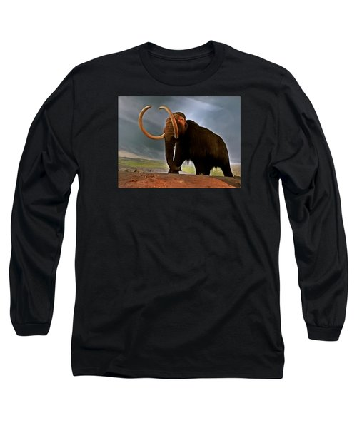 Woolly Mammoth Long Sleeve T-Shirt by Brian Chase