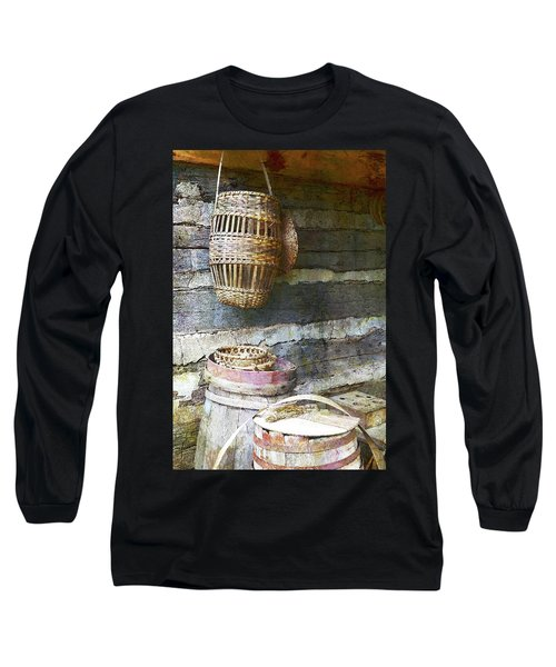 Woven Wood And Stone Long Sleeve T-Shirt