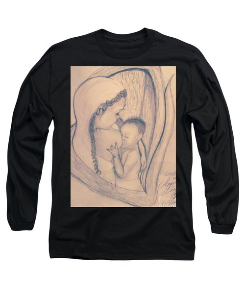 Wrapped Within The Angel Wings Of Momma Long Sleeve T-Shirt by Talisa Hartley