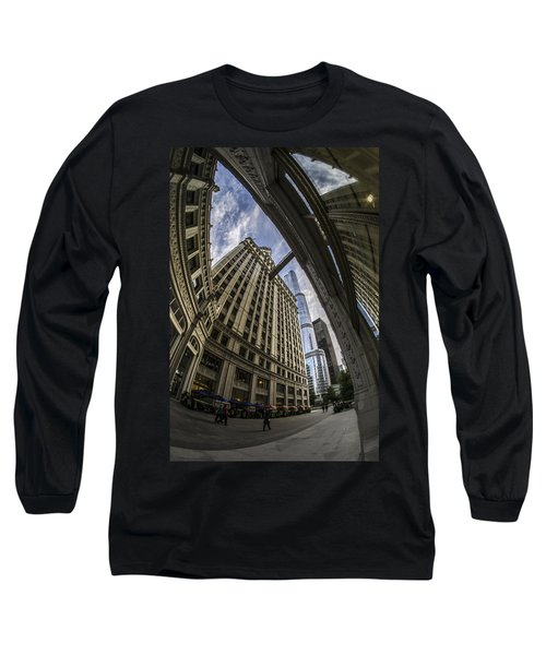Wrigley And Trump A Fisheye View Long Sleeve T-Shirt