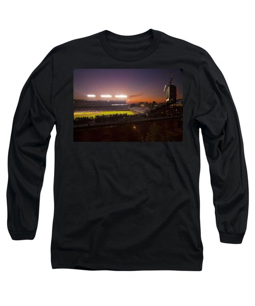 Wrigley Field At Dusk Long Sleeve T-Shirt