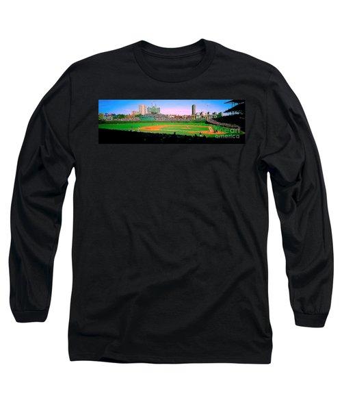 Long Sleeve T-Shirt featuring the photograph Wrigley Field  by Tom Jelen