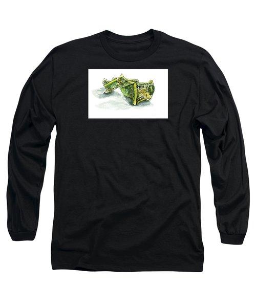 Wrinkled Dollar Long Sleeve T-Shirt