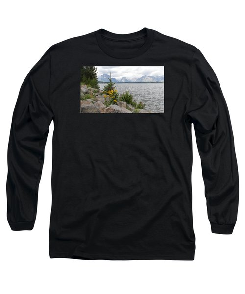 Wyoming Mountains Long Sleeve T-Shirt by Diane Bohna