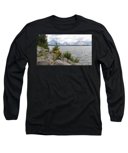 Wyoming Mountains Long Sleeve T-Shirt